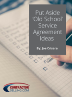EXCLUSIVE DOWNLOAD: Put Aside 'Old School' Service Agreement Ideas