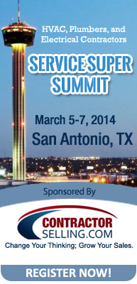 Service Super Summit 2014 Contractors Sales Coaching